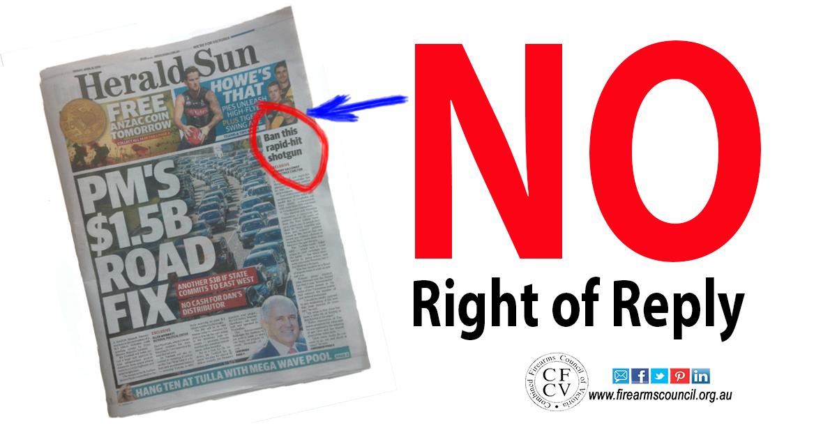 Herald Sun campaigning against Adler