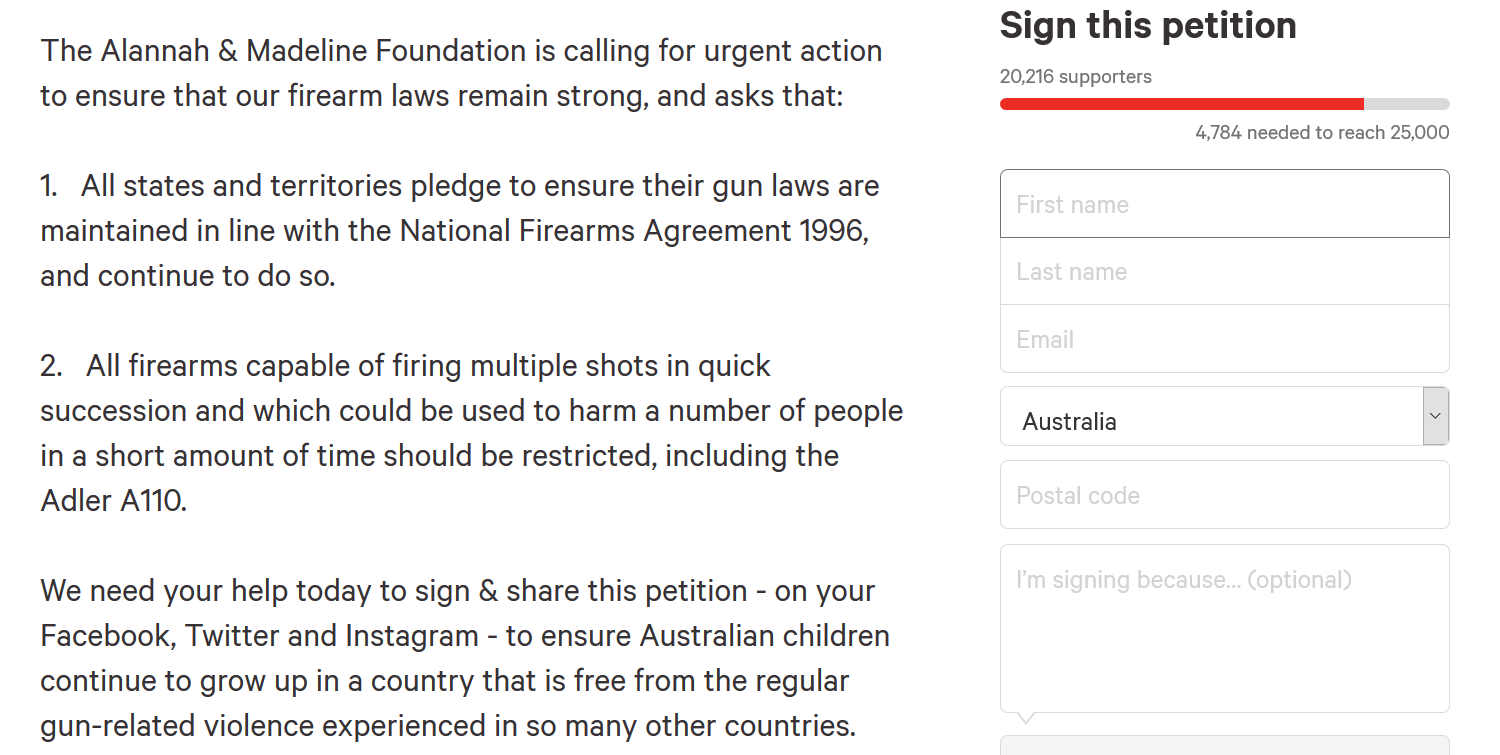 AMF petition