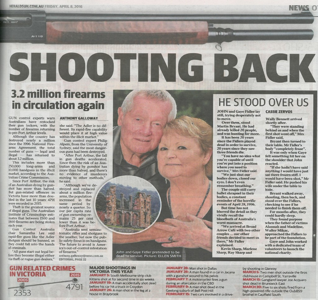 Herald Sun - gun - on firearm availabilty 8 April 2016